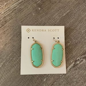Kendra Scott Elle mint and gold earrings